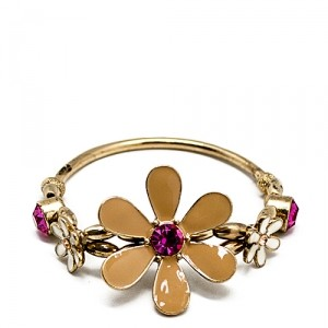 Браслет Gold with pink flower