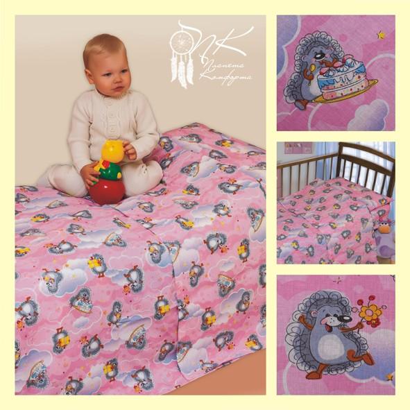 Комплект постельного белья на резинке Подарок (ясельный)