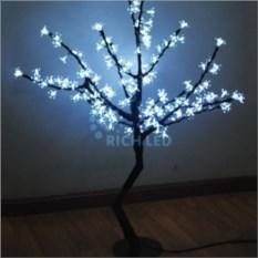 Белое светодиодное дерево Сакура 1,1х0,75 м