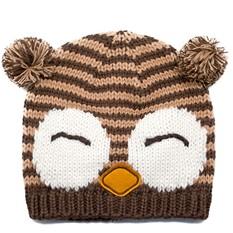 Шапка Sleepy owl, коричневый с бежевым