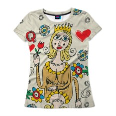 Женская 3D-футболка Червовая дама