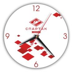Настенные часы с символикой клуба Спартак