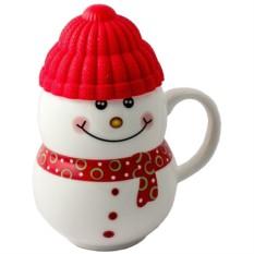Кружка Красный снеговик