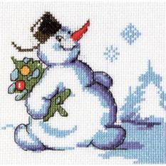 Набор для вышивания Снеговик с ёлкой