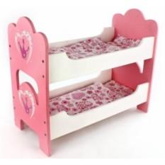 Детская деревянная кукольная кроватка Корона