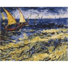 Картина по номерам «Вид на море в Сент-Мари»