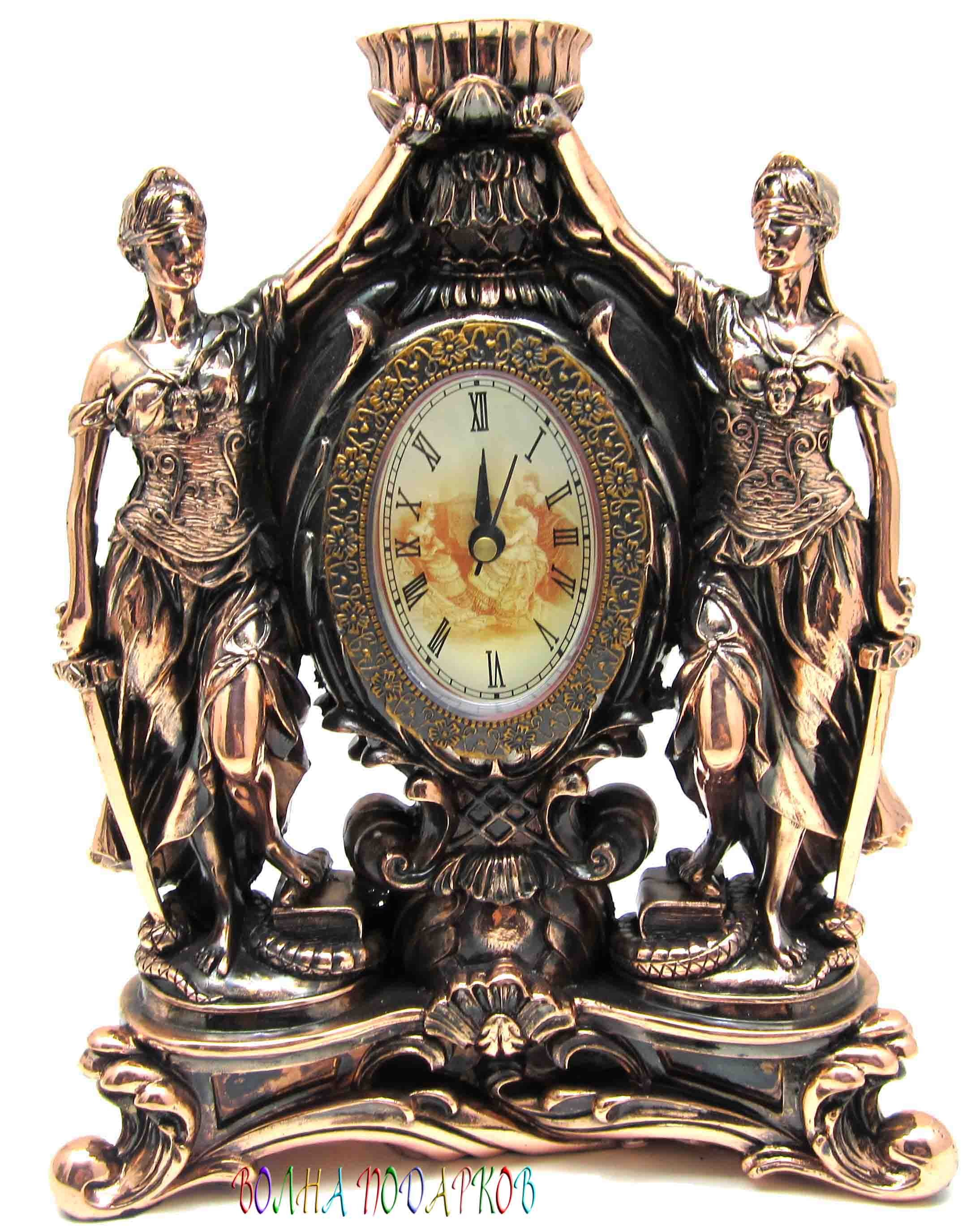 Настольные часы Две Фемиды