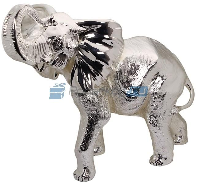 Скульптура Слон MAXI с посеребрением