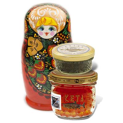 Caviar in matryoshka