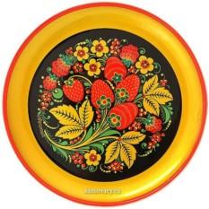 Тарелка-панно с росписью хохлома Хохлома