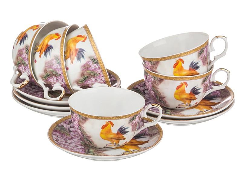 Чайный набор на 6 персон Петушки