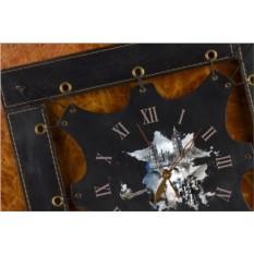 Часы из кожи Шерлок Холмс (черный, квадратная рама)