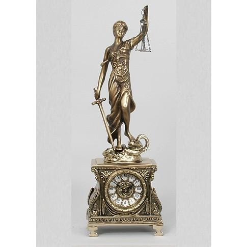 Часы бронзовые каминные Правосудие