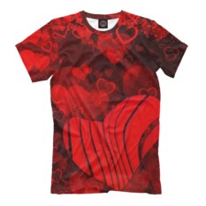 Мужская футболка Сердца любви