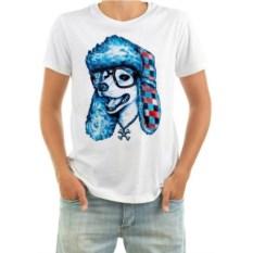Мужская футболка Собака в шапке и очках