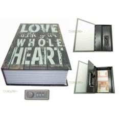 Книга-сейф с кодовым замком Love