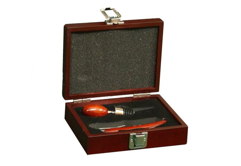 Винный набор из штопора и пробки для бутылки, в ящике