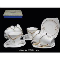 Чайный набор Алмаз из 12 предметов (фарфор)