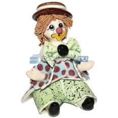 Скульптура Сидящий клоун в коричневой шляпе