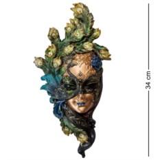 Венецианская маска Павлин (цвет — сине-зеленый)