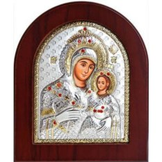 Вифлеемская икона Божьей Матери в серебряном окладе