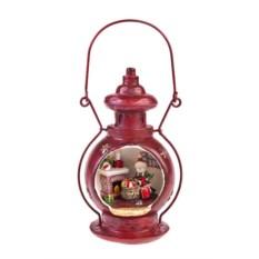 Новогоднее светящееся украшение Лампа со снеговиком
