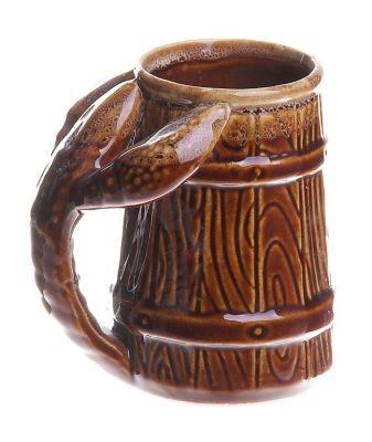 Кружка для пива Рак, малая, коричневая