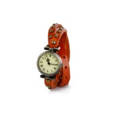 Часы на двойном ремешке Ticker (оранжевые)