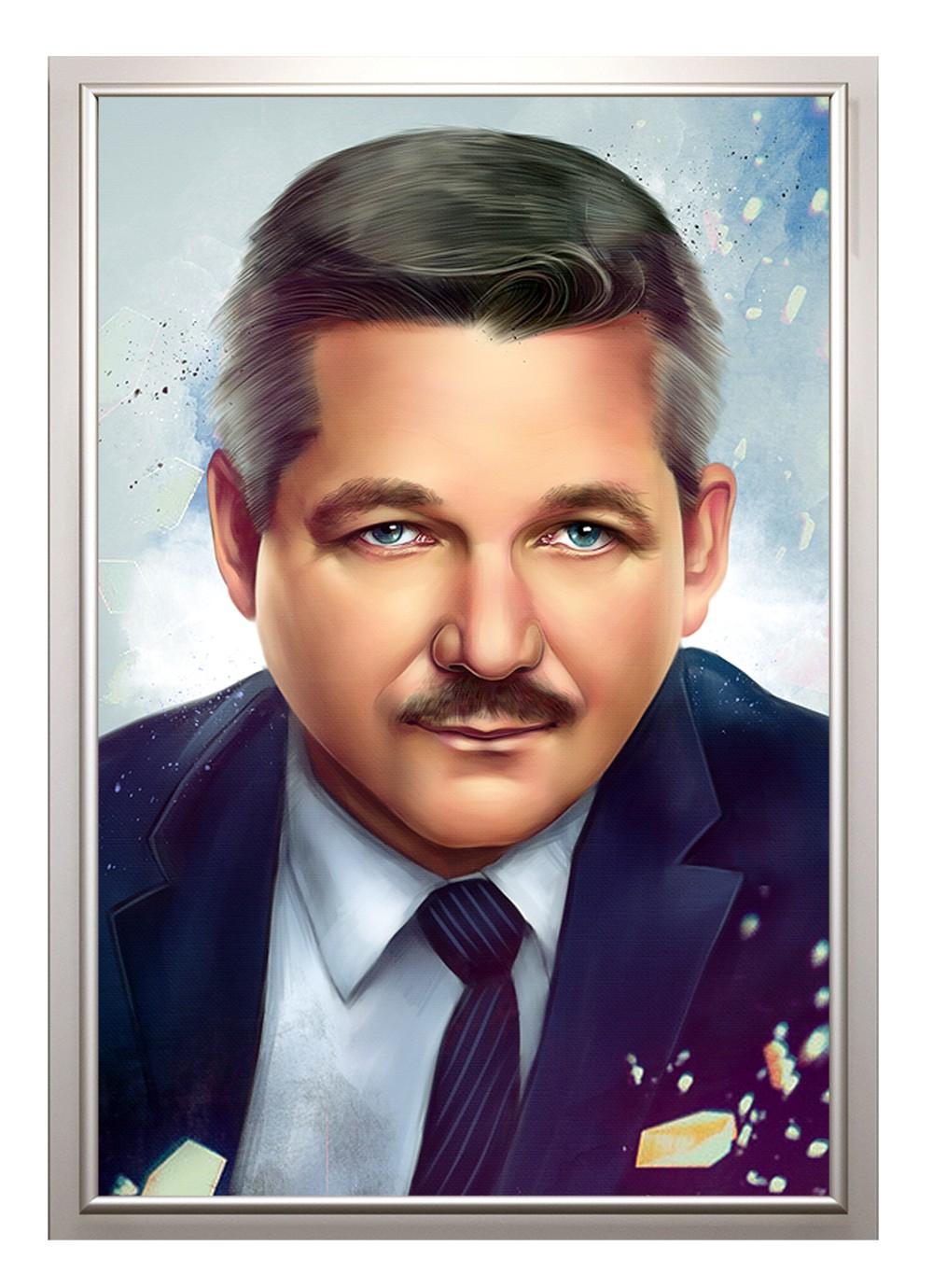 Дизайнерский портрет по фото на день рождения, 100х150 см