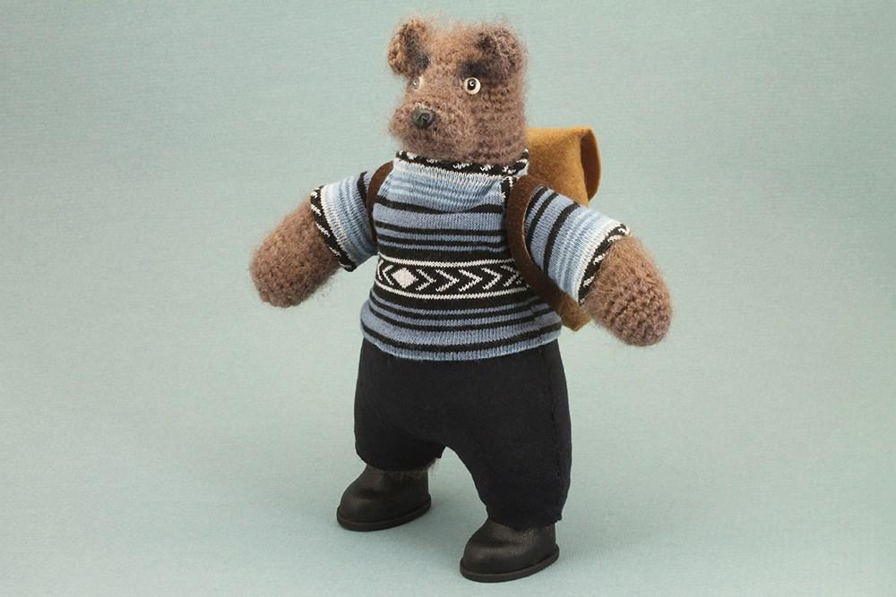 Авторская игрушка Медведь – путешественник
