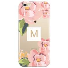 Именной чехол для iPhone «Розовые цветы»