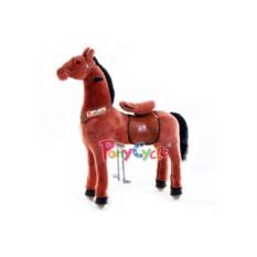 Большая детская механическая каталка Рыжая лошадка