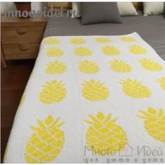 Вязаный плед Сочный ананас
