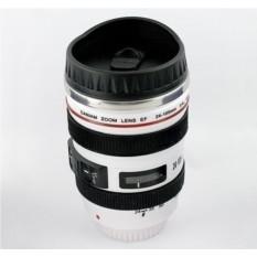 Белый термостакан в виде объектива от фотоаппарата