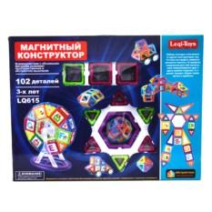 102 детали магнитного конструктора Leqi-toys