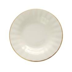 Фарфоровая глубокая тарелка Золотая лента