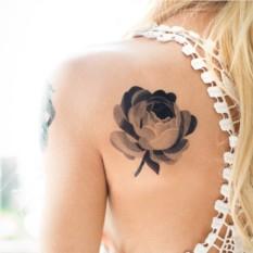 Татуировка переводная Sasha Unisex Grey Rose