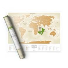 Скретч-карта мира Gold