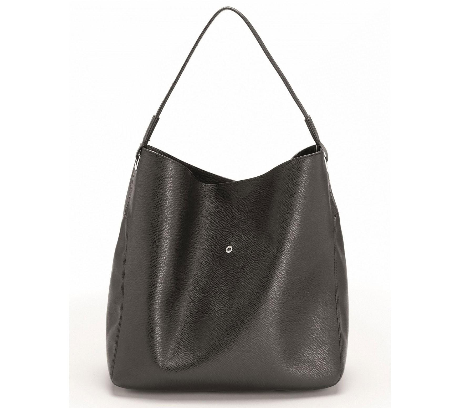 Черная кожаная женская сумка Graf von Faber-Castell