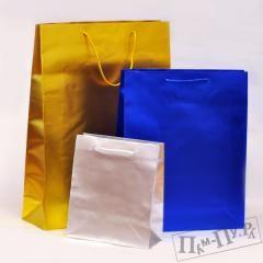 Пакет подарочный (матовый металл)