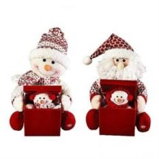 Интерактивная игрушка Дед Мороз, Снеговик с сюрпризом