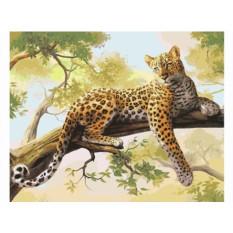 Картины по номерам «Леопард»