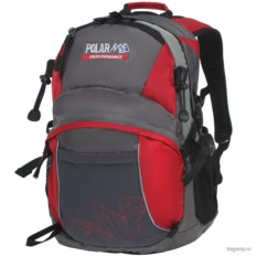 Серо-бордовый рюкзак Polar School
