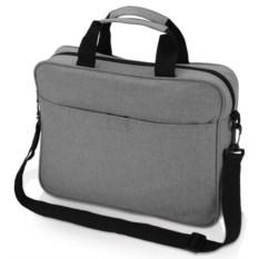 Серая сумка для ноутбука Брейв