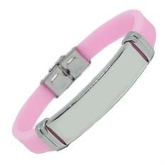 Розовый каучуковый браслет