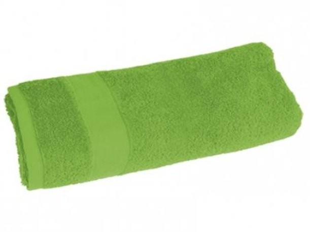 Махровое большое полотенце (цвет - зеленое яблоко)