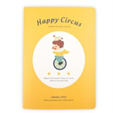 Тетрадь Happy circus yellow