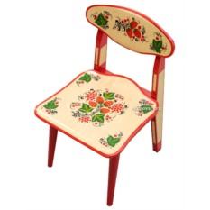 Детский стульчик Осень с художественной росписью Хохлома