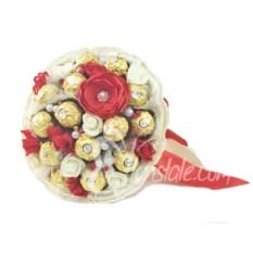 Букет из 19 конфет Ferrero Rocher с красным маком