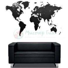 Пазл-карта мира True Puzzle Black XXL